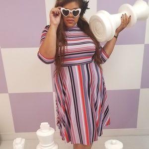 Lavender Striped Dress